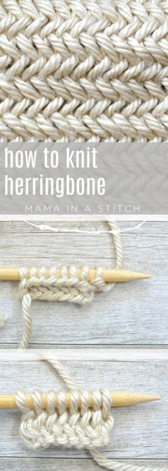 How to Knit Herringbone Stitch Free Knitting Tutorial - New Craft Works Basic Knitting for Beginners Love Knitting, Knitting Stitches, Knitting Needles, Knitting Ideas, Knitting Tutorials, Knitting Stitch Patterns, Hand Knitting, Knitting Machine, Vintage Knitting