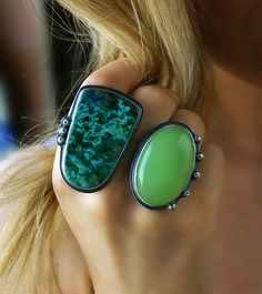 RESERVED - Into Transcendence - Chrysocolla and Chalcedony Sterling Silver Ring