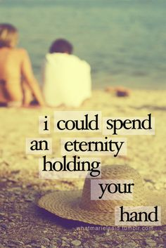 Holding hands with you was a dream come true for me and it was one of the most beautiful feelings in the world. <3