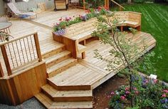 this could work for our entry way with steps down to garden boxes