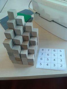 Idee voor in de bouwhoek/ nabouwen van plattegronden.