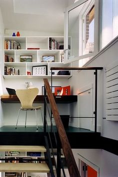 Sometimes you can find unexpected spaces — like a closet, or a landing — to put a desk or work area. | 17 Ways To Make A Small Room Feel So Big