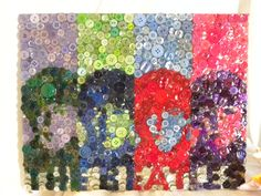 The Beatles, Iconic Warhol picture in Buttons