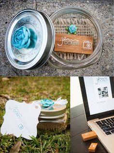 Great custom USB packaging from Jenn Ocken Photography
