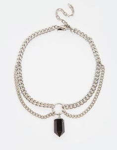 Regal Rose Apogee Chain Choker Necklace - Silver