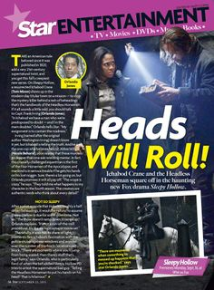 Take a look at this Sleepy Hollow feature from a recent issue of Star Magazine.