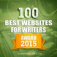 Badge for 100 Best Websites for Writers: Award 2015