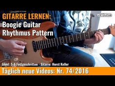 Gitarre Lernen Boogie Guitar Rhythmus Pattern VIP Guitar Horst Keller