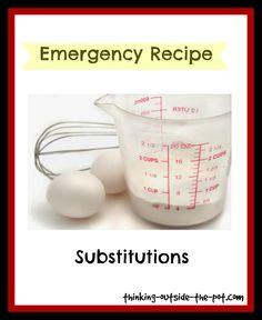 Recipe substitutions