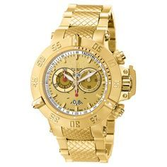Gold And Silver Watch, Gold Watch, Cool Watches, Watches For Men, Wrist Watches, Watch Deals, Stainless Steel Watch, Quartz Watch, Chronograph