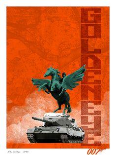 James Bond Movie Poster Reimagined by agency Herring & Haggis  http://007.herringhaggis.com