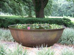 Water garden in sugar kettle