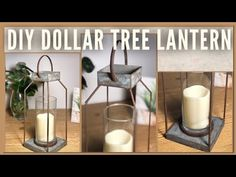 DIY Farmhouse Galvanized Rustic Dollar Tree Lantern – Inspired / Dupe DIY Room Decor – GiGi's Doll Creations – Thrift Store Crafts Tree Lanterns, Lanterns Decor, Dollar Tree Decor, Dollar Tree Crafts, Rustic Decor, Farmhouse Decor, Modern Farmhouse, Farmhouse Ideas, Country Farmhouse