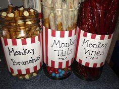 Sock monkey birthday theme