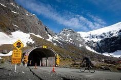 The Homer Tunnel is a 1.2km long road tunnel in the Fiordland region of the South Island of New Zealand, opened in 1954. New Zealand State Highway 94 passes through the tunnel, linking Milford Sound to Te Anau and Queenstown.