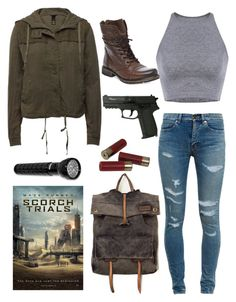 Scorch Trials 2015 by adrianagallas on Polyvore featuring polyvore, fashion, style, Yves Saint Laurent, Steve Madden and Free People
