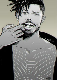 Erik Kilkmonger || Black Panther || Cr: Alterego09