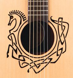 Celtic Horse Rosette - Coming from an Irish background, as I do, this would just be a stunning piece to add to my guitar collection.