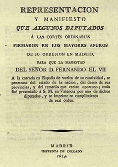 Comentario de Texto. El Manifiesto de los Persas. 1814