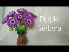 Gerbera Flower crochetดอกเยอบีร่าโครเชตpart2/2วิธีถักเกสรและกลีบเลี้ยงดอกเยอบีร่า - YouTube Love Crochet, Crochet Flowers, Silk Flowers, Crochet Stitches, Crochet Patterns, Crochet Appliques, Flower Bouquet Wedding, Flower Bouquets, Bridal Bouquets