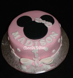 minnie+mouse+cakes | minnie mouse cake loved this cake this cake was for the sister of the ...