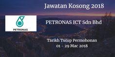 Jawatan Kosong PETRONAS ICT Sdn Bhd 01 - 29 Mac 2018  PETRONAS ICT Sdn Bhd calon yang sesuai untuk mengisi kekosongan jawatan PETRONAS ICT Sdn Bhd terkini 2018.  Jawatan Kosong PETRONAS ICT Sdn Bhd 01 - 29 Mac 2018  Warganegara Malaysia yang berminat bekerja PETRONAS ICT Sdn Bhd dan berkelayakan dipelawa untuk memohon sekarang juga.  Jawatan KosongPETRONAS ICT Sdn Bhd 01 - 29 Mac 2018 1. PETRONAS ICT Young Graduates 2. Senior Analyst Master Data Governance 3. Executive (ICT) 4. Senior…