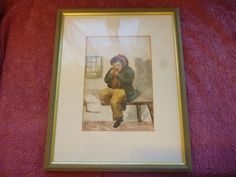 1859 Watercolour Cartoon Title:  very ill with Toothache Signed Hetton