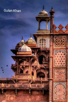Other view of the Mughal King Akber tomb Agra India