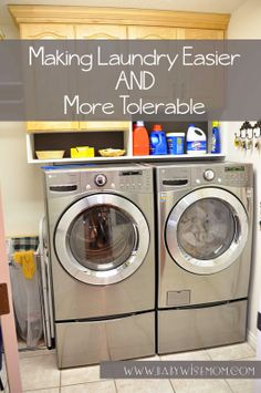 Making Laundry Easier (and more tolerable!) {5 Tips}