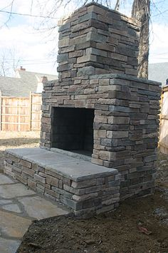 Outdoor Fireplace by Texas Rock and Flagstone Lubbock, Tx ...