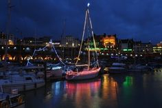 DECEMBER: Boat owners in Ramsgate got into the Christmas spirit by decorating their boats