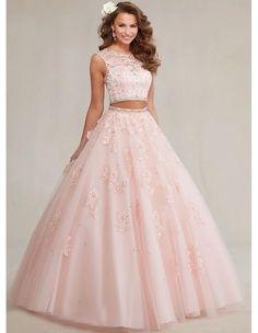 934494a2eb Cristalino más nuevo del cordón del azul real dulce 16 dresses dos piezas  vestidos del quinceanera azul del partido de la mascarada debut vestidos de  bola ...