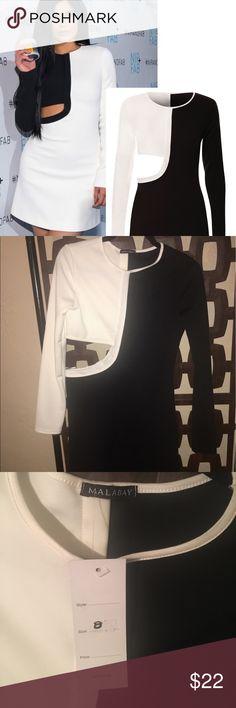 Selling this Black and White Side Cutout Dress on Poshmark! My username is: kgmasterpiece. #shopmycloset #poshmark #fashion #shopping #style #forsale #Malabay #Dresses & Skirts