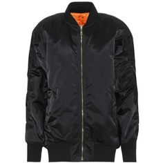 Balenciaga Reversible Bomber Jacket ($1,885) ❤ liked on Polyvore featuring outerwear, jackets, black, bomber jackets, balenciaga jacket, bomber style jacket, blouson jacket and reversible jacket