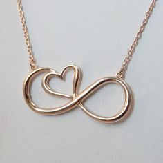 FashionJunkie4Life - Sterling Silver Rose Gold Infinity Heart Necklace, $32.00 (http://www.fashionjunkie4life.com/sterling-silver-rose-gold-infinity-heart-necklace/)