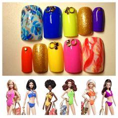 nails for Barbie Basics Collection 003❤ by azusa - Nail Art Gallery nailartgallery.nailsmag.com by Nails Magazine www.nailsmag.com #nailart