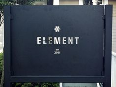 Element Signage  by Phil Coffman