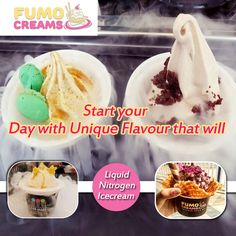 Fumo Creams Liquid Nitrogen Icecream - Start your Day with Unique Flavour that will.. #IceCreamParlourInDelhi #SmokeIceCream #ColdRollIceCream #FumoCreams #IceCrreamShakes #LiquidNitrogenIceCream