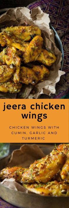 Indian style chicken wings with cumin
