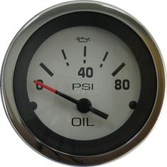 Marpac Premier Elite Oil Pressure Gauge White Stainless Bezel 7-1990 - https://www.boatpartsforless.com/shop/marpac-premier-elite-oil-pressure-gauge-white-stainless-bezel-7-1990/