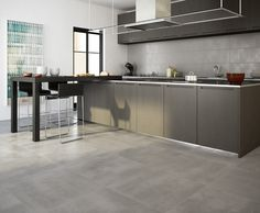 Ambientación cocina serie Concrete - Porcellanato ILVA