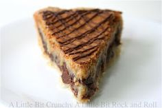 6/10 Chocolate Chip Cookie Pie Kind of like a chocolate chips on bottom and a chess pie on top.