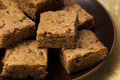 Browned butter and dark brown sugar add deep butterscotch flavors to this nutty blondie.
