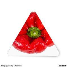 Bell pepper. triangle sticker