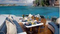 Yacht LADY JOY -  Foredeck Dining