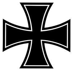 This is the logo for the Bundeswehr, the Iron Cross which is a symbol used in Nazi military history.