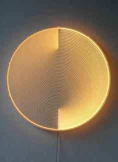 Meijer's light sculpture, Thanks for the Sky Blue/Orange