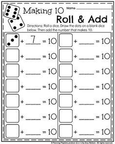 best math worksheets images  fun worksheets maze worksheet  kindergarten math worksheets for may  making  roll and add kindergarten math  worksheets teaching