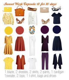 """Sunset Work Capsule"" by kristin727 ❤ liked on Polyvore featuring J.Crew, Lands' End, Effie's Heart, DL1961 Premium Denim, MaxMara, Sylvia Alexander, Ivanka Trump, Tory Burch, Cole Haan and Dooney & Bourke"