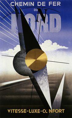 Chemin de Fer du Nord by A.M. Cassandre, 1929 by kitchener.lord, via Flickr